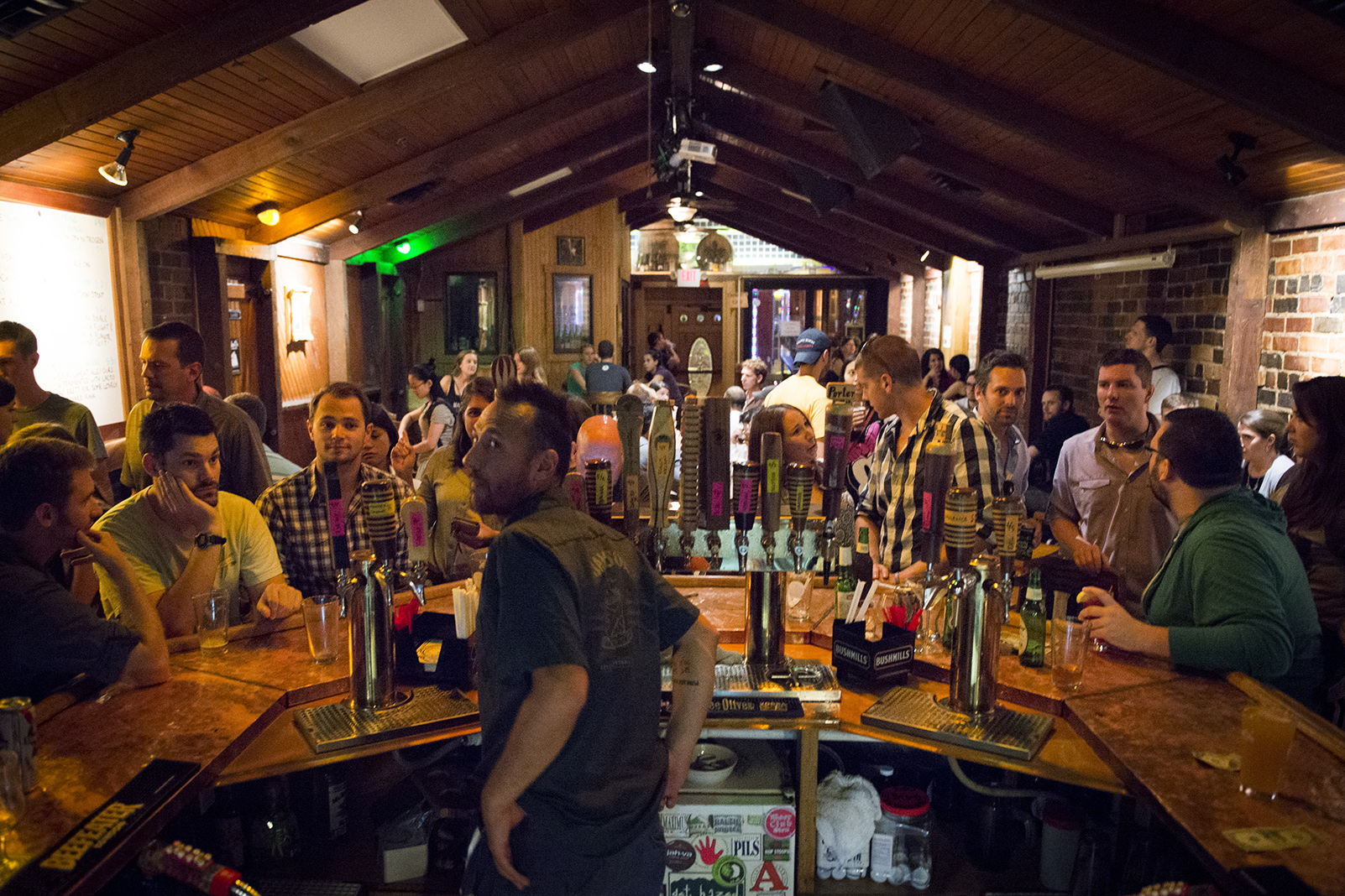 Jackie O's is packed on Friday, August 29, 2014 in Athens, Ohio.