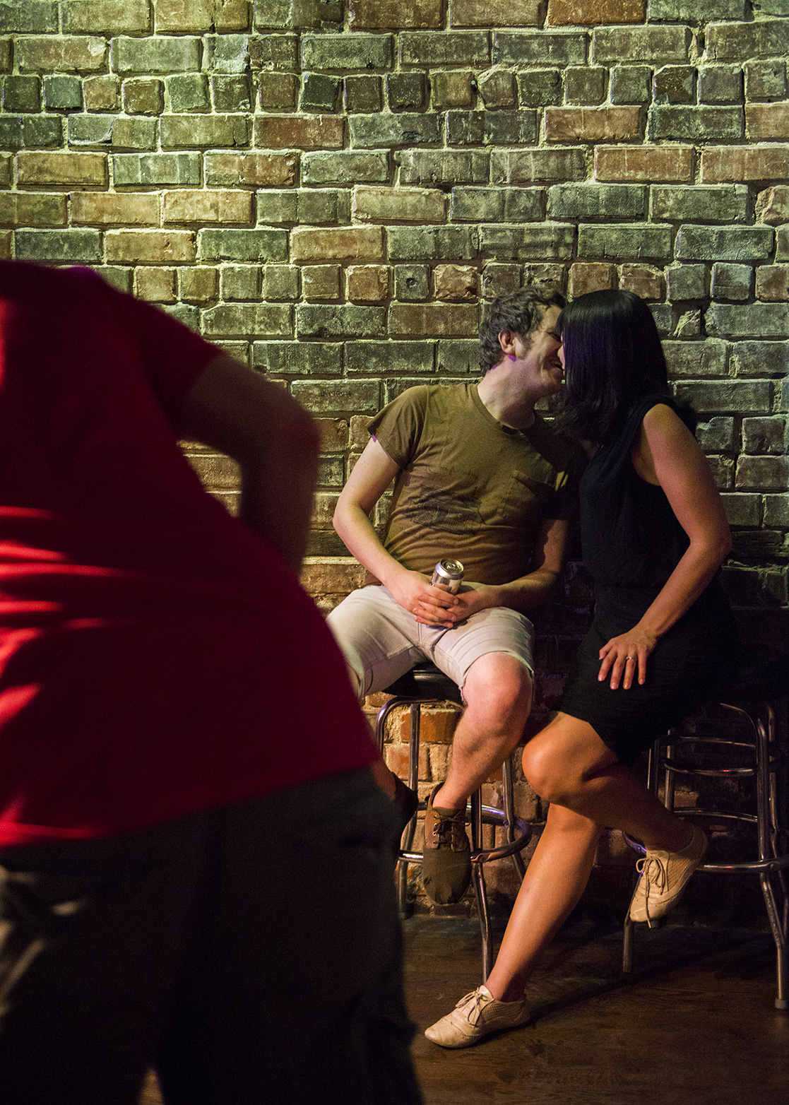Will Klatt and Marla Davis share a moment at The Union on Friday, August 29, 2014 in Athens, Ohio.