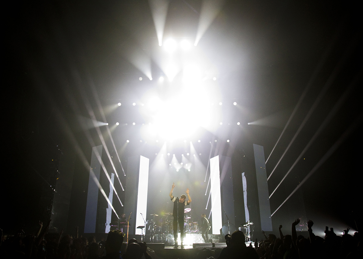 Imagine Dragons perform at the BMO Harris Bradley Center on Saturday, June 13, 2015.