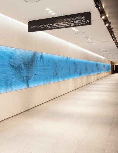 Aqua Planet 63 Hallway Wall Graphic