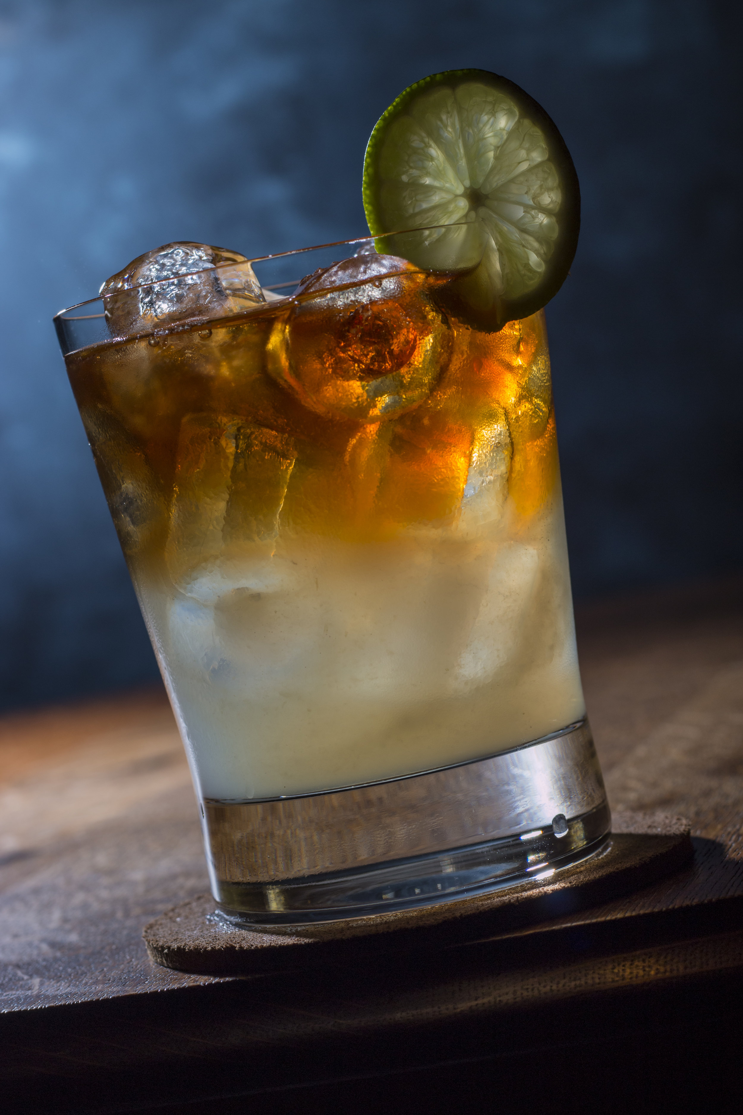Dark and Stormy Cocktail