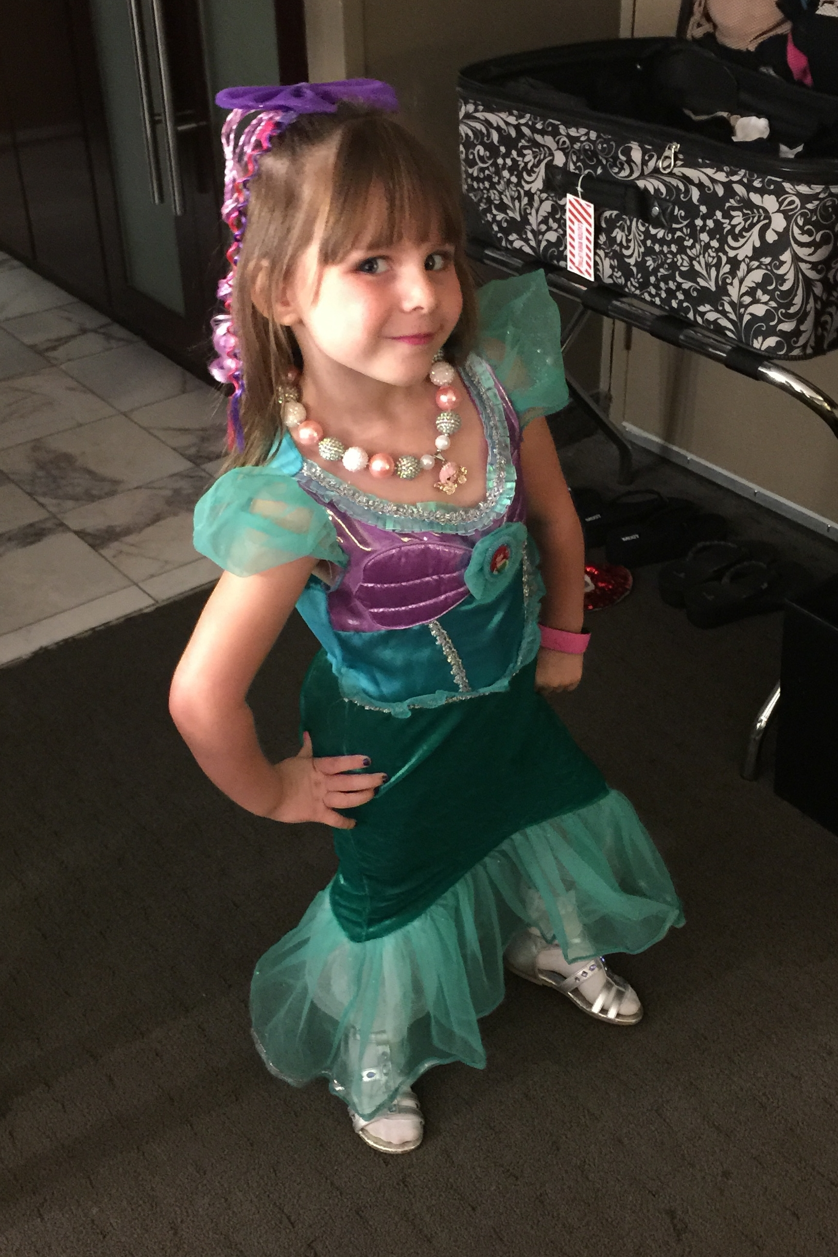 """Whatever You Are, Be a Good One."" Abraham Lincoln.  Emery is clearly REALLY good at being Princess Ariel."