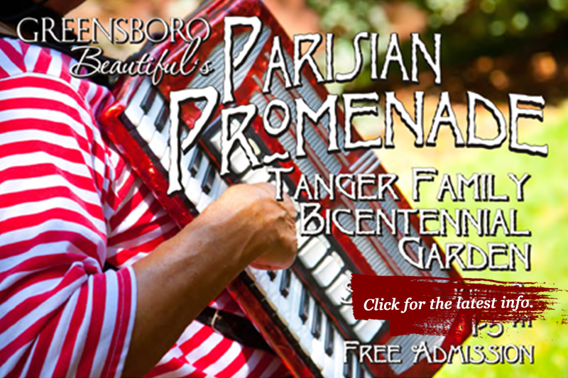 Artist Tracey J. Marshall participates in Parisian Promenade event in Greensboro. Stop by and say hello.