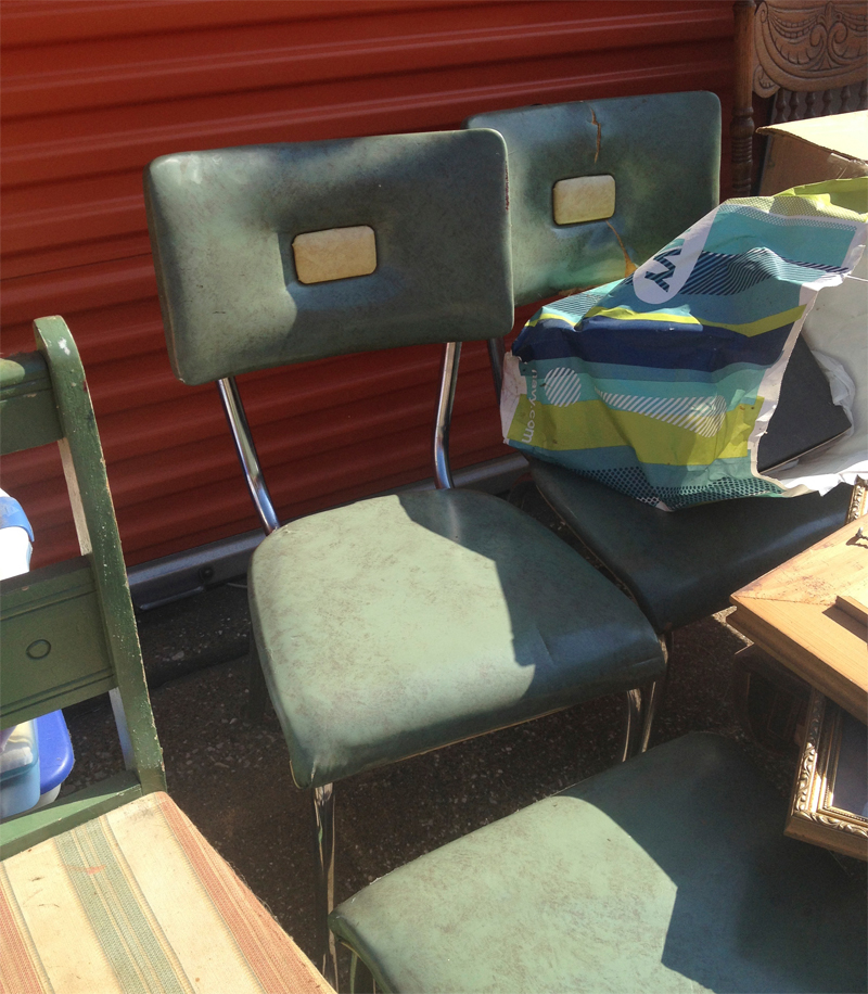 50's Green Chairs