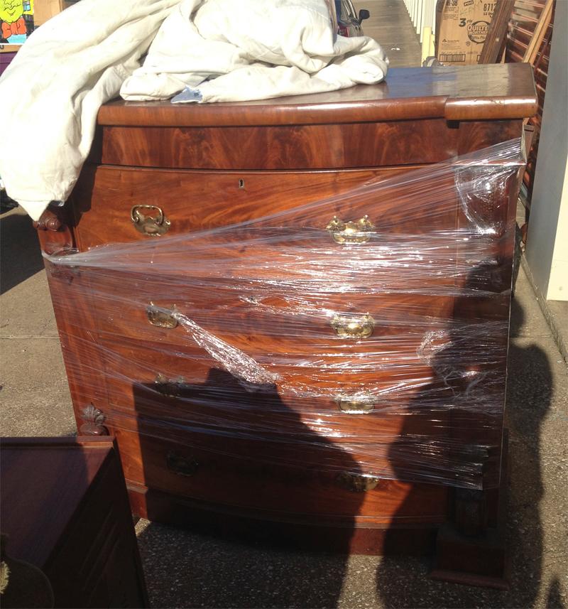 Antique Walnut Lionhead Chest of Drawers