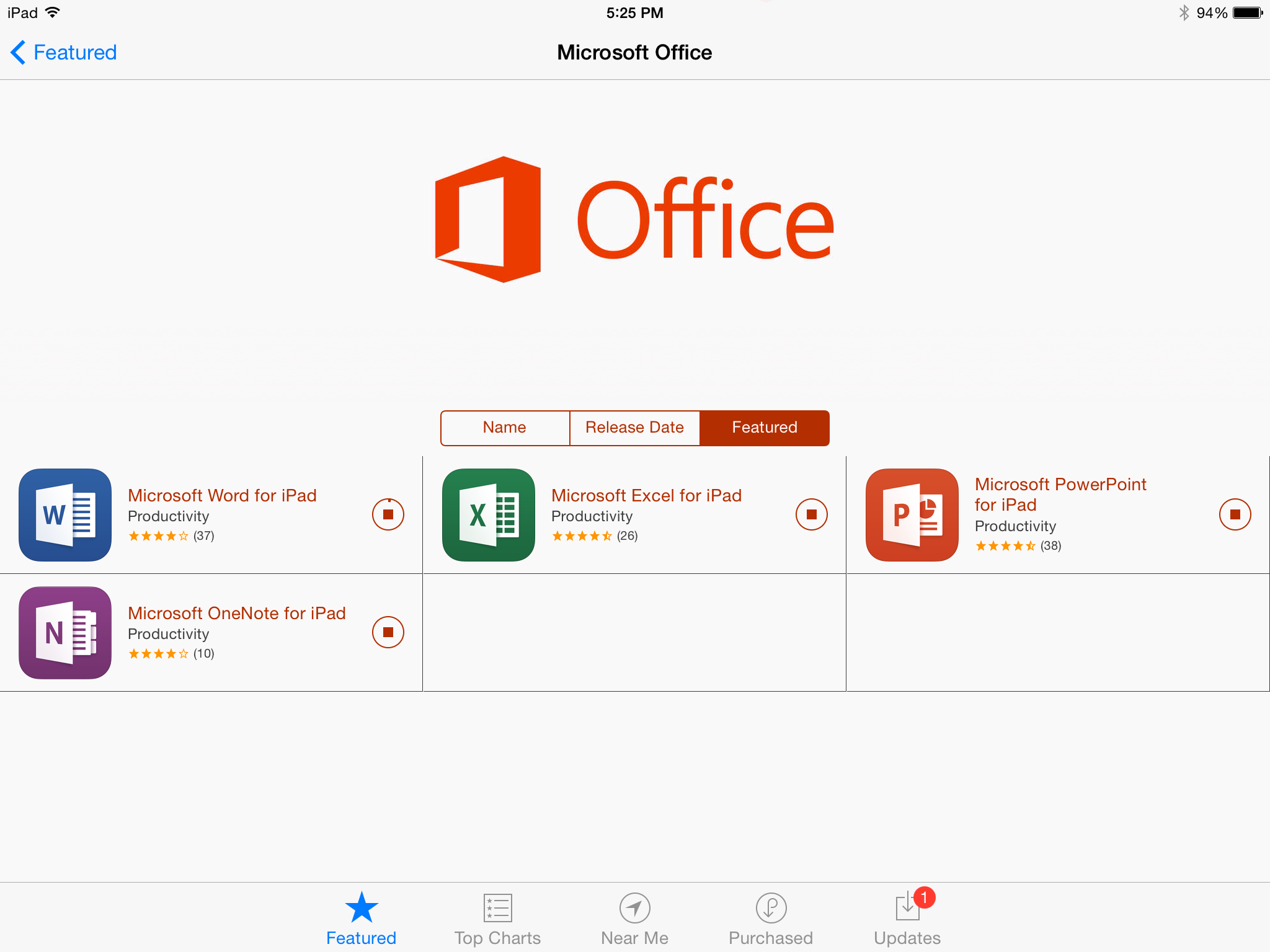 Office on iPad