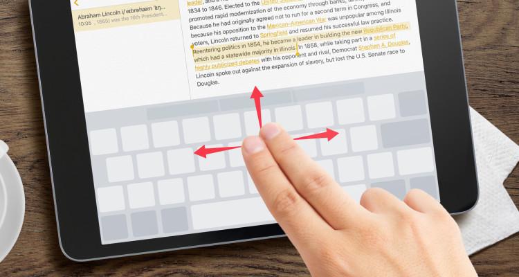 ios keyboard cursor
