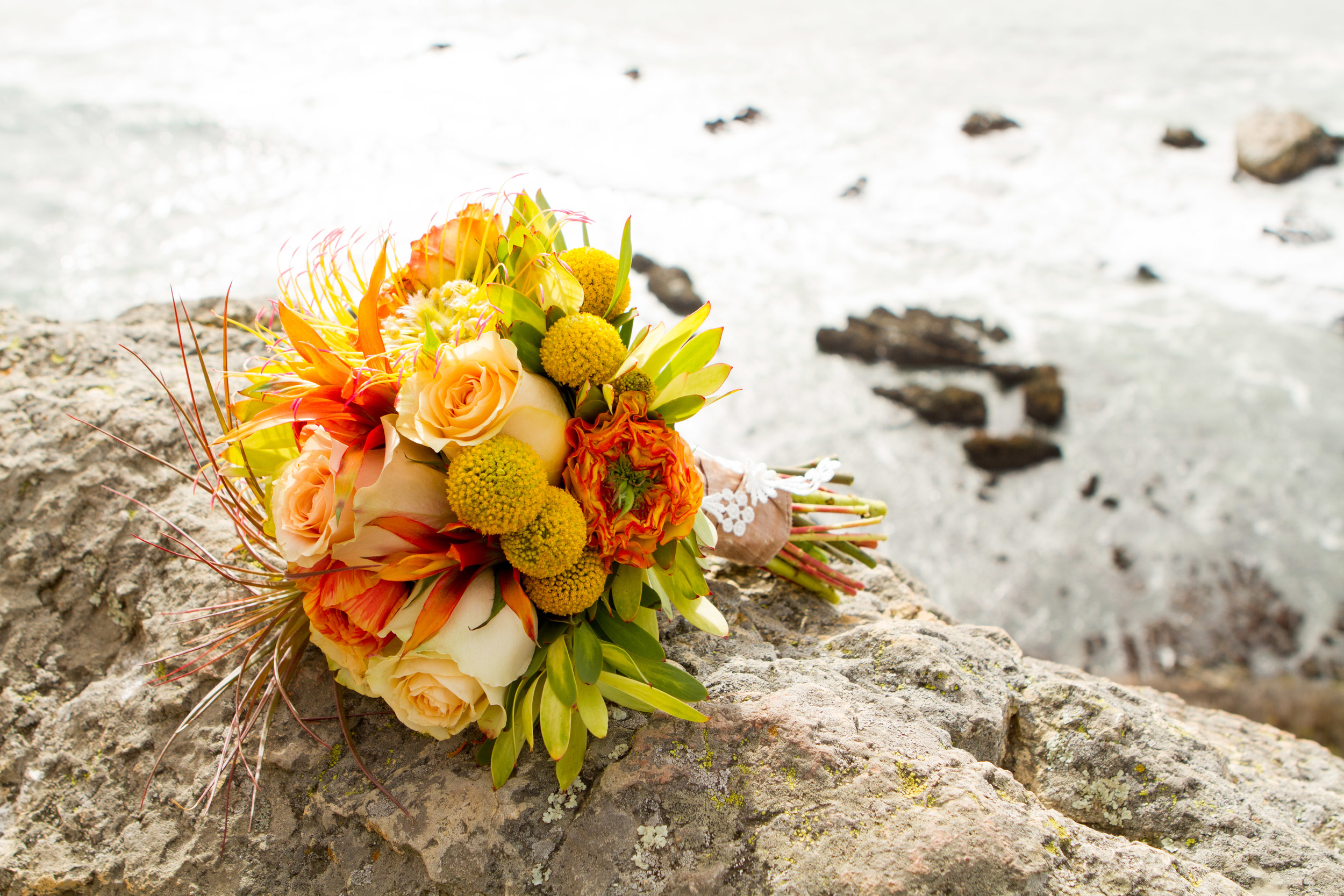 Wedding Bouquet above Avila Beach Photo: J.R. Racine.