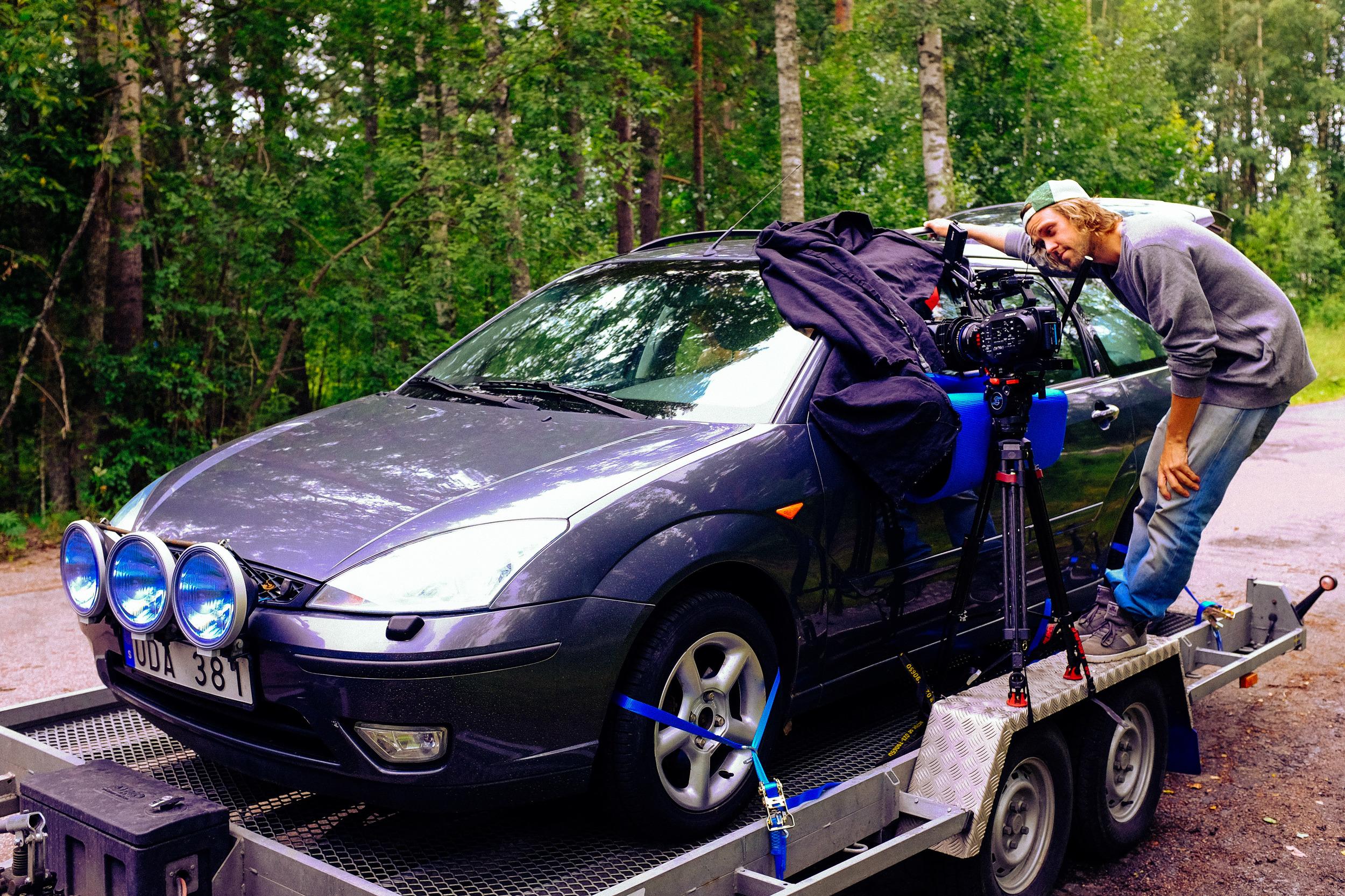 Bilriggen till elbilsfilmen, (som också handlar om bensinbilar).