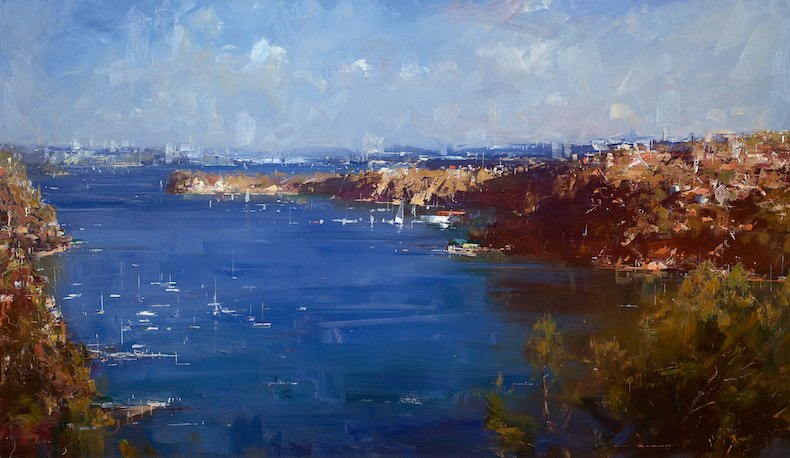 Ken Knight Afternoon Light - Mosman Bay 88cm x 150cm.jpg