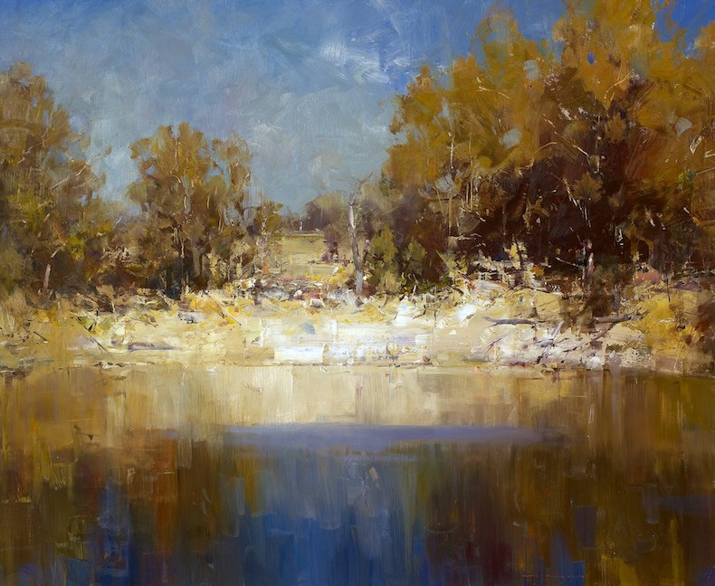 Ken Knight Midday at the Waterhole 101cm x 122cm.jpg