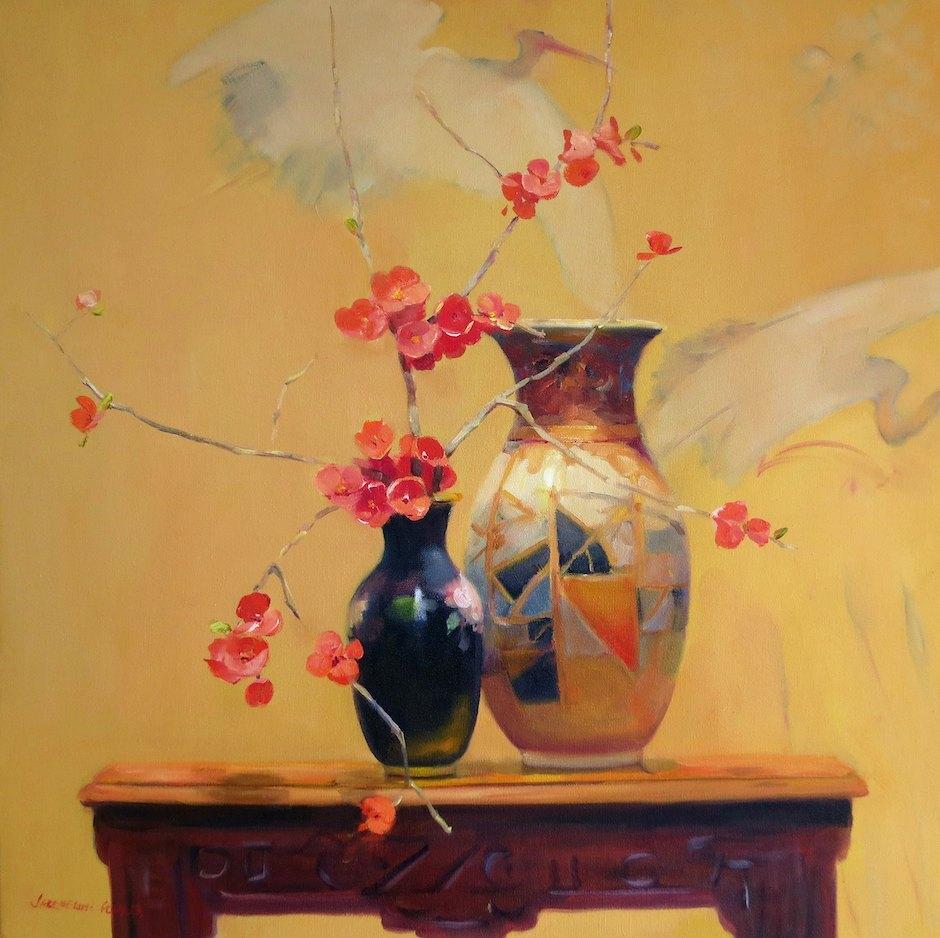 Jacqueline Fowler 'The Art Deco Vase' 61cm x 61cm $5800.jpg