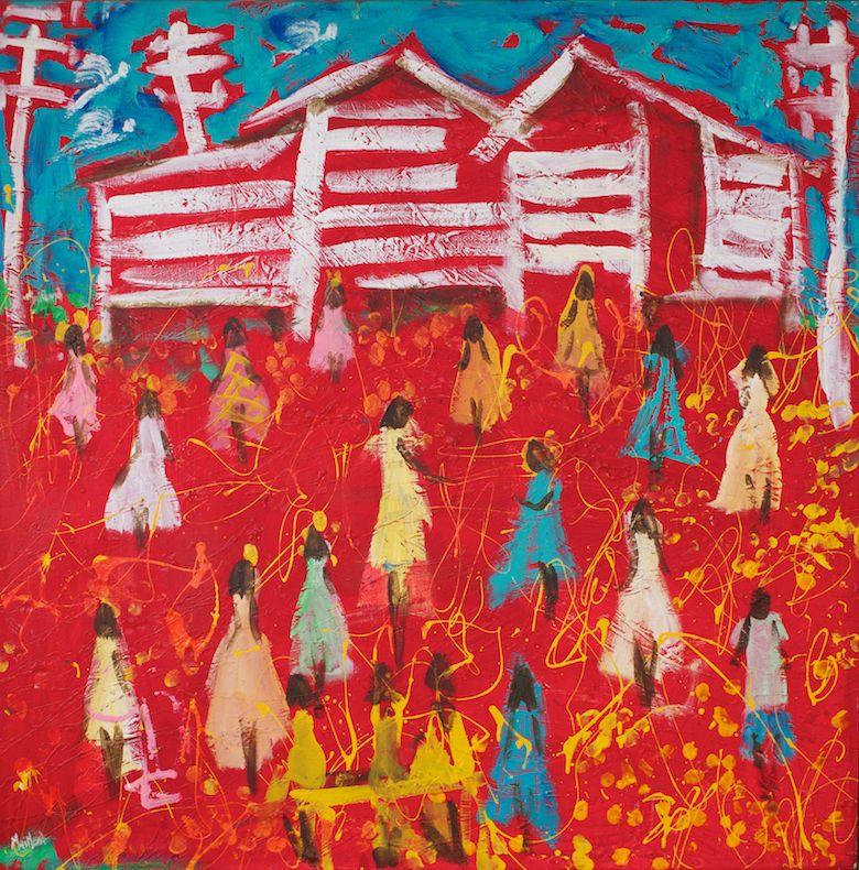 John Maitland. Untitled. 110cm x 110cm. Mixed Media on Canvas..jpg