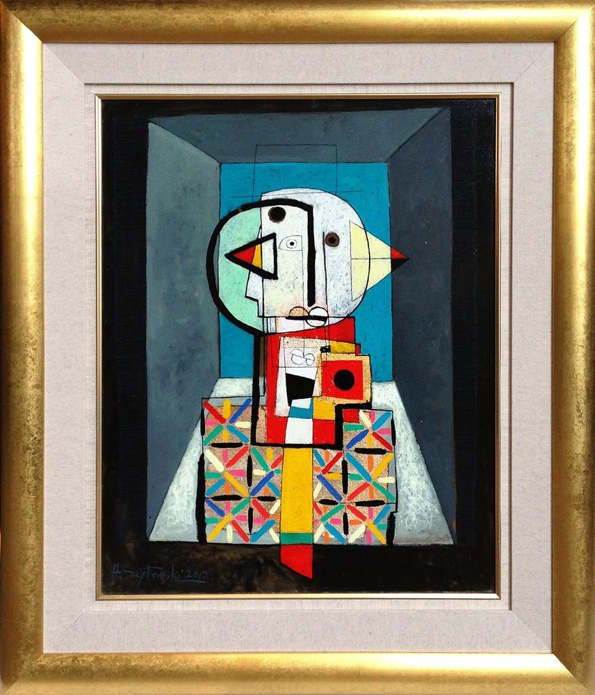 #14267 Henryk Szydlowski   Portrait of the Bird Stalker in the Empty Room   103cm x 88cm