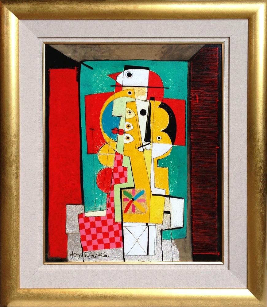 #14266 Henryk Szydlowski   Portrait of the Colourful Creatures   103cm x 88cm