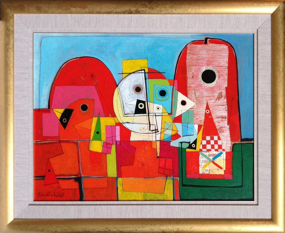 #14257 Henryk Szydlowski   Creatures from the Colourful Village   103cm x 128cm