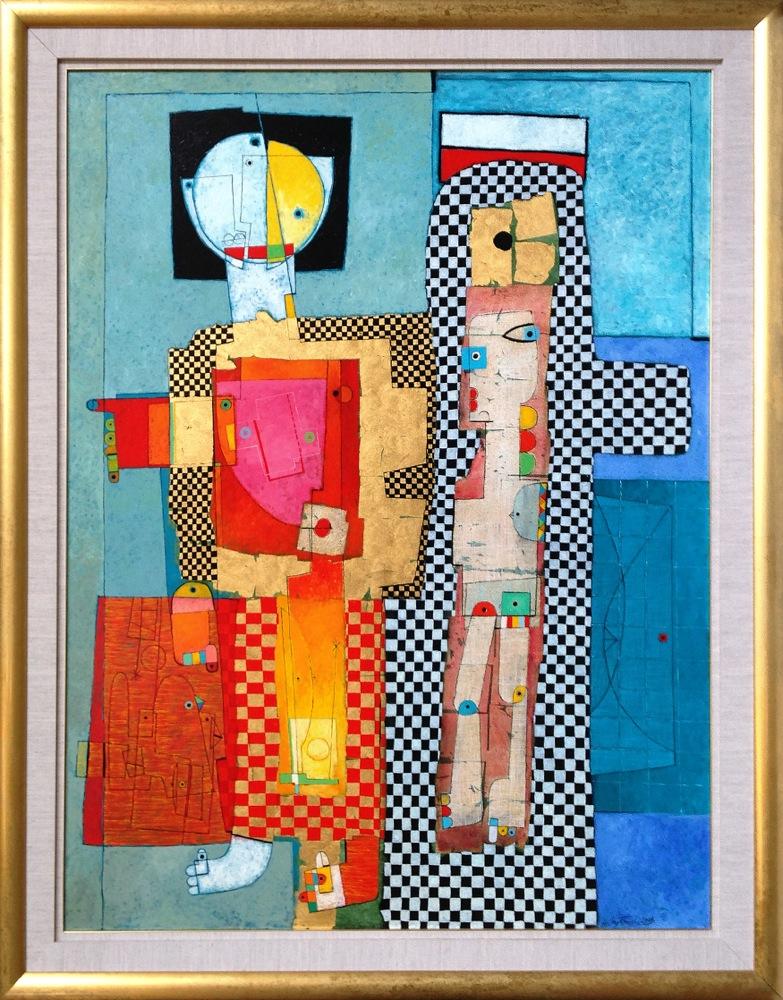 #14250 Henryk Szydlowski   Golden Puppeteer and the Puppet   197cm x 157cm