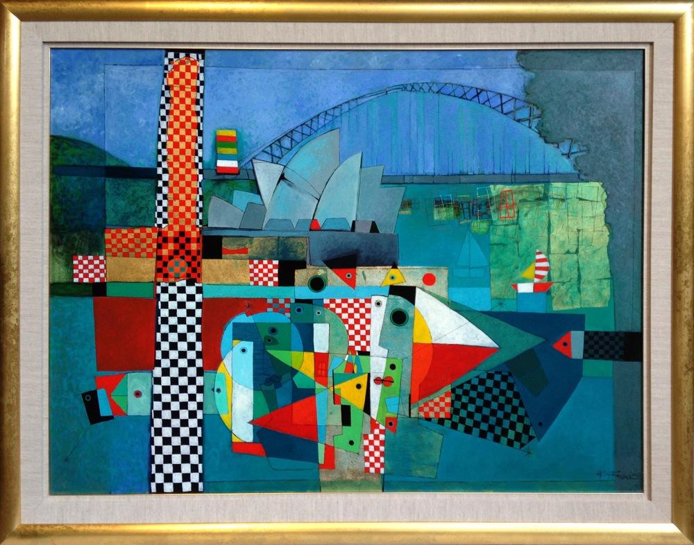 #14249 Henryk Szydlowski   Carnival in Sydney Harbour(Magic in Sydney Harbour)   157cm x 197cm