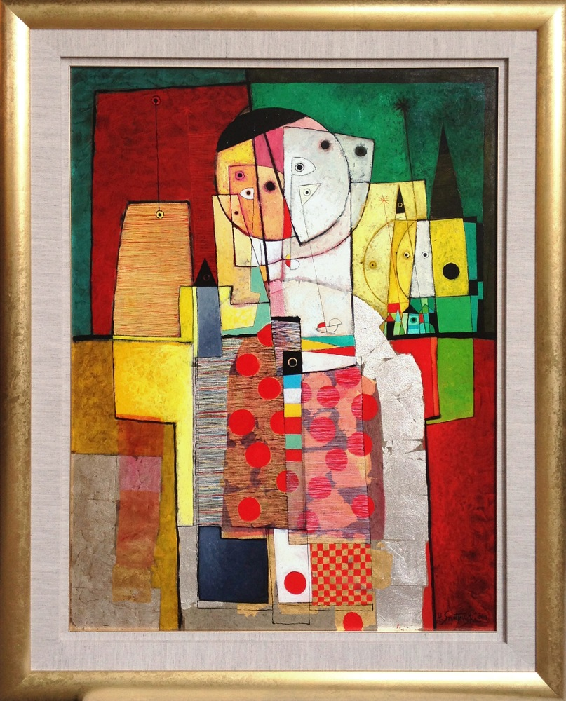 #14253 Henryk Szydlowski   String Puppet and the Puppeteer   148cm x 117cm