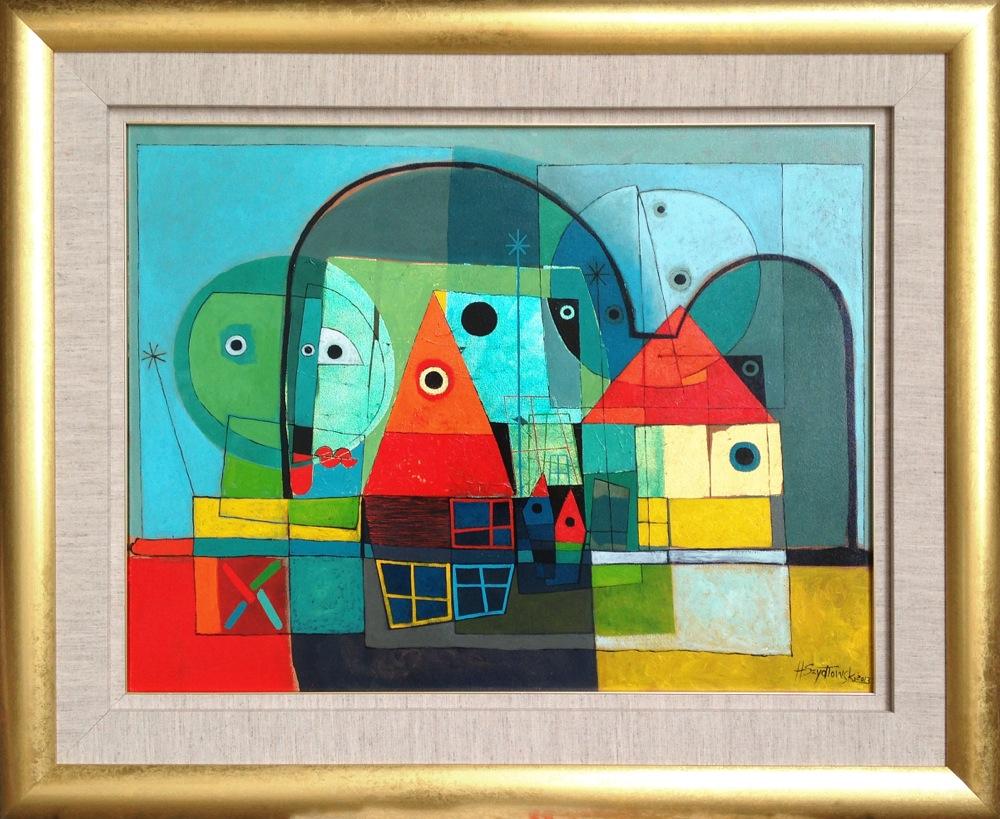 #14258 Henryk Szydlowski   Night in the Colourful Moonlight   92cm x 113cm