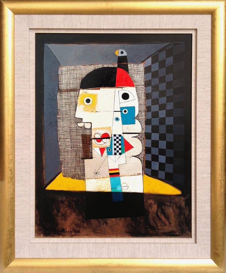 #14264 Henryk Szydlowski   Man from the Bird Cage   113cm x 92cm