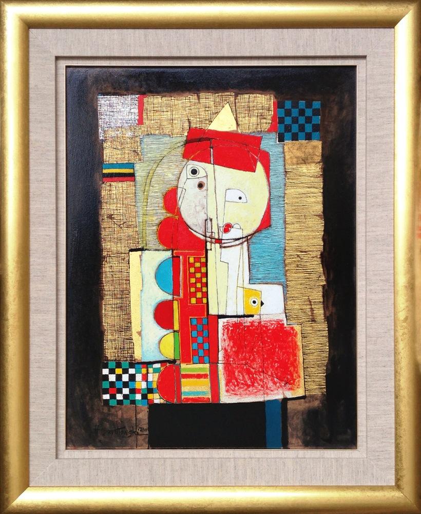 #14265 Henryk Szydlowski   Enchanted Ladybird in Red   113cm x 92cm