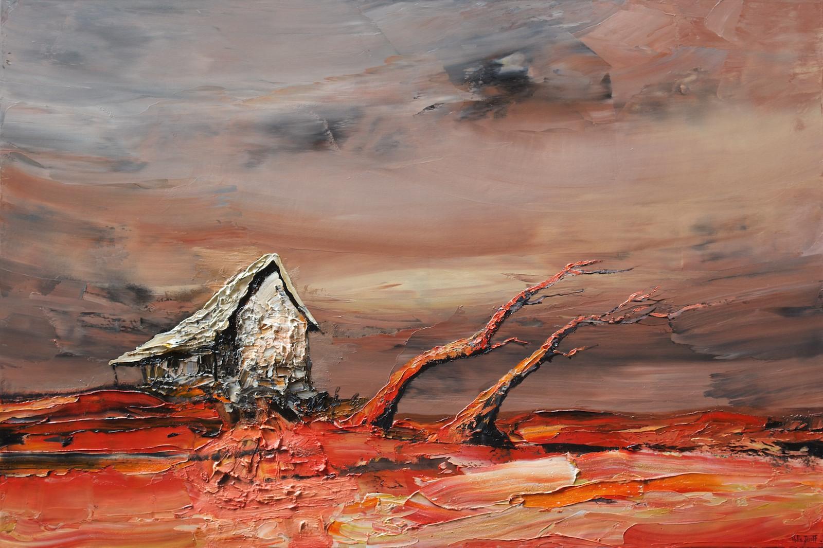 Palla Jeroff 'Windswept Studio' 100cm x 150cm #14420