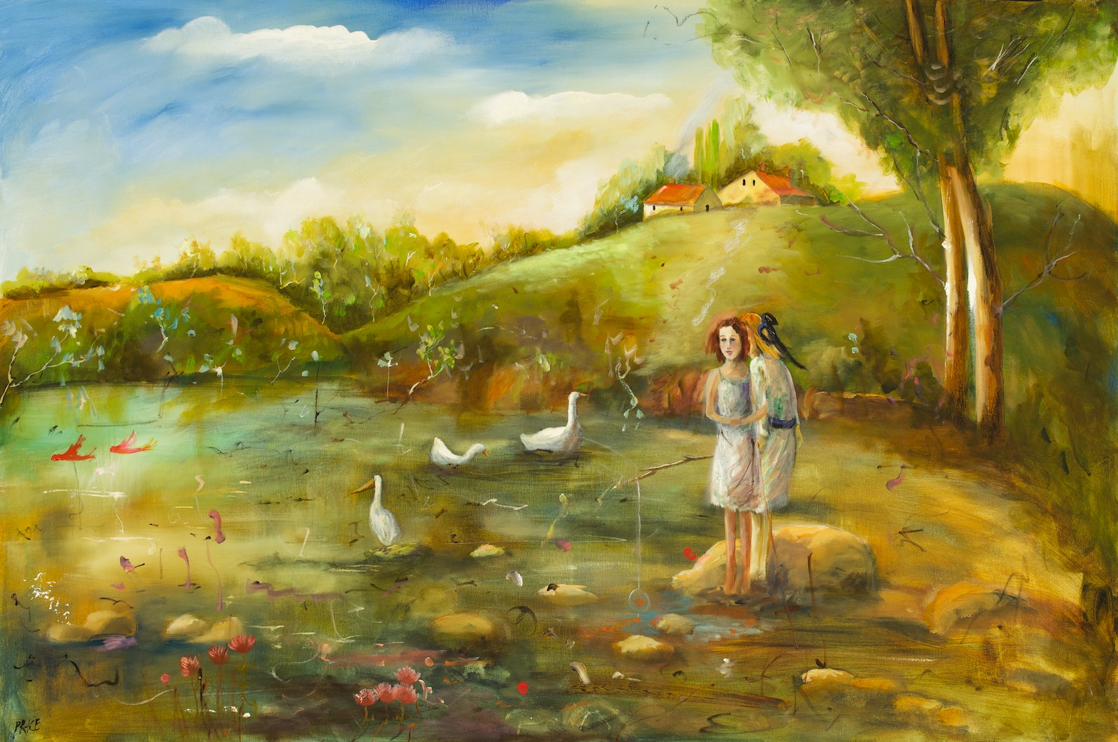 #12033 Terry Pauline Price 'A moment before school' 101cm x 152cm $8800
