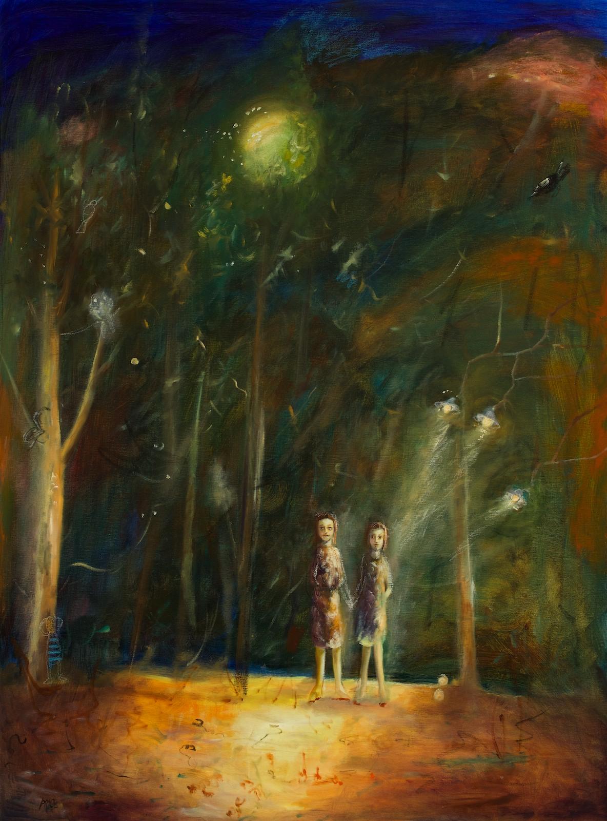 #13650 Terry Pauline Price 'Nightlights' 138cm x 103cm $7800