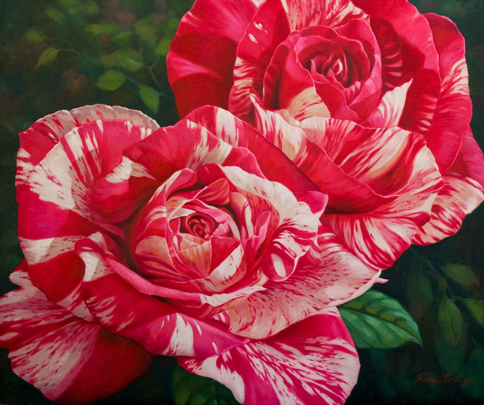 Fiona Craig 'Matisse Roses I' 102cm x 122cm #12867