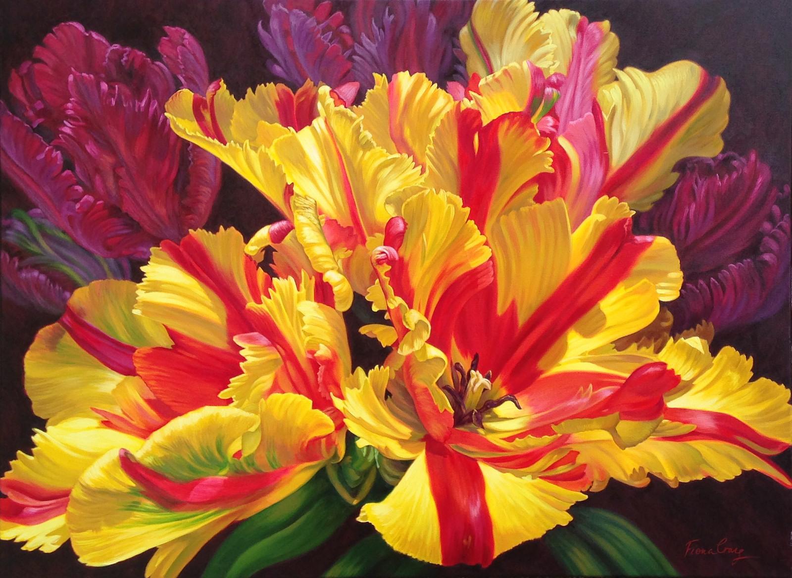 Fiona Craig 'Tulipomania II' 101cm x 137cm #14234