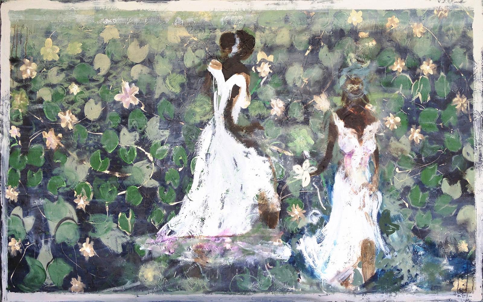 John Maitland 'Field of Lilies' 150cm x 236cm