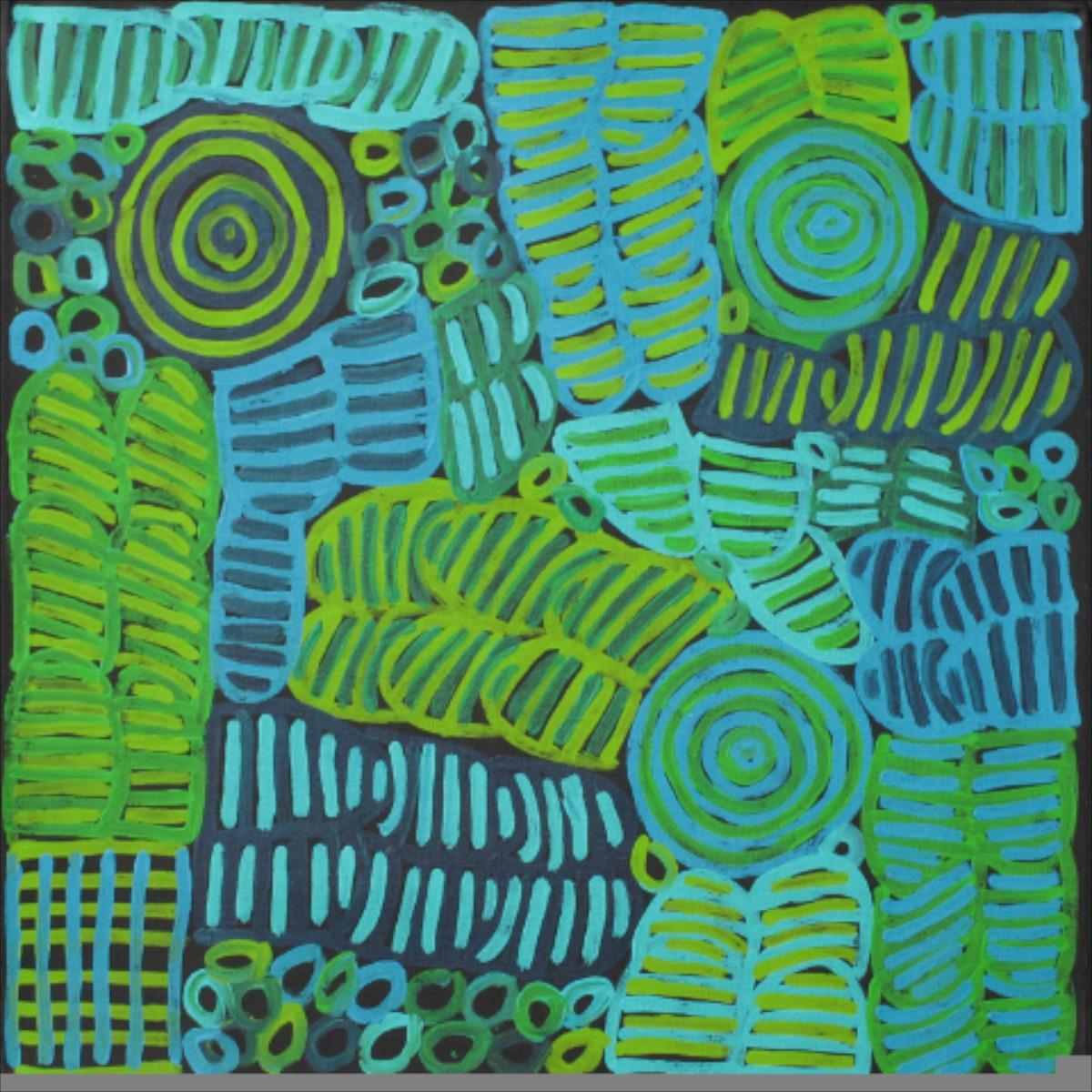 Betty Mbitjana 'Awelye & Bush Melon' 60cm x 60cm #12038