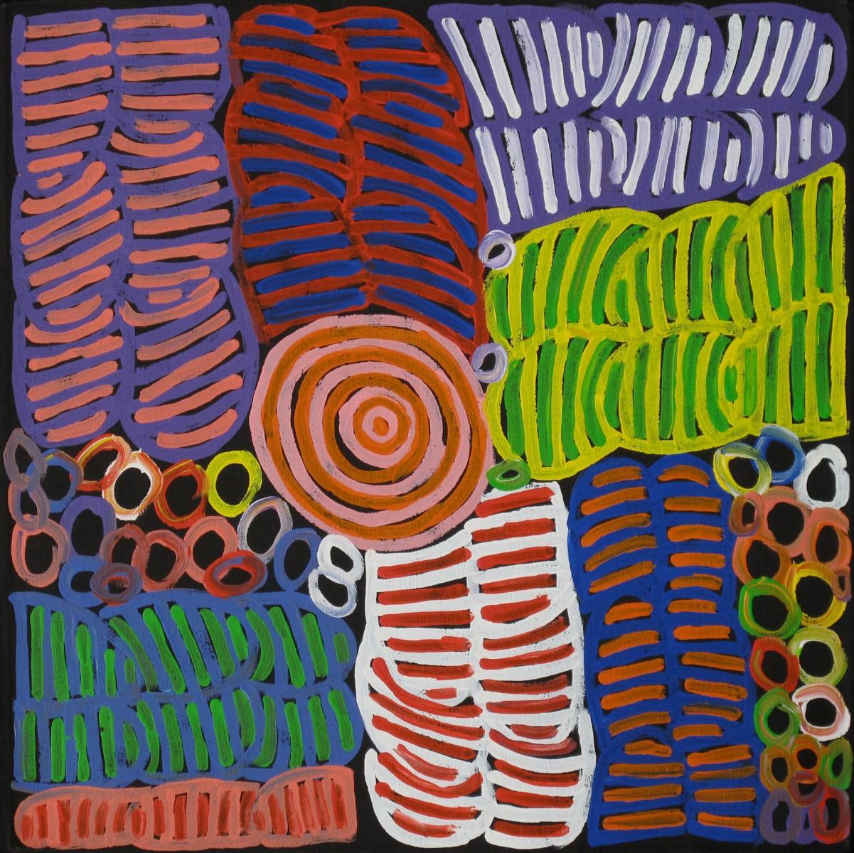 Betty Mbitjana. Awalye and Bush Melon Seed. 60cm x 60cm #11164