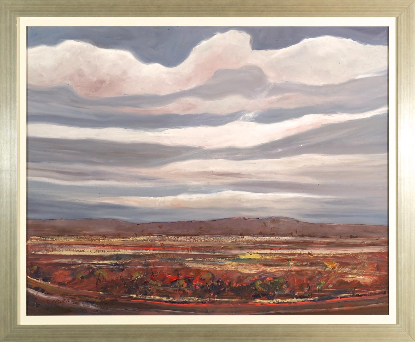 Robert Fisher. Davenport Ranges, Geologist Trek. Oil on Board. 95cm x 115cm