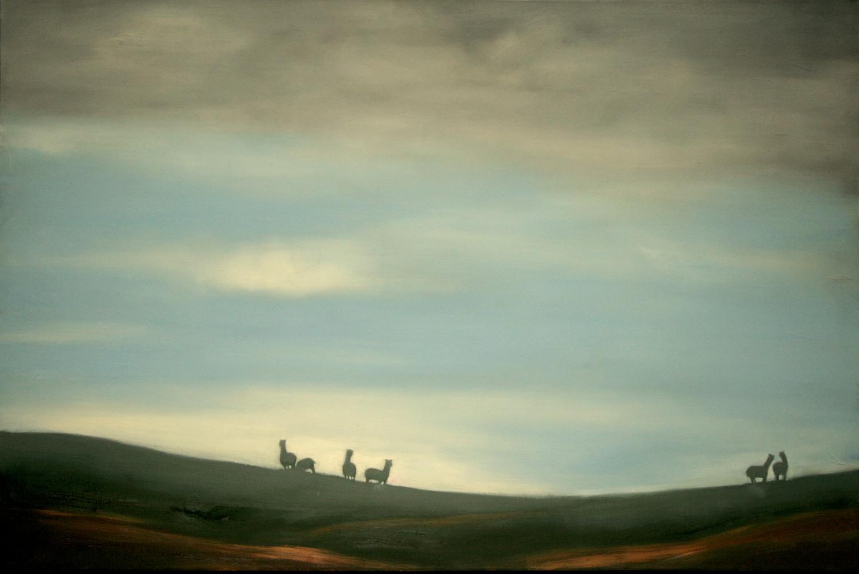 #14647 Haiou 'Peru Impression' 60cm x 90cm Oil on Canvas $1980