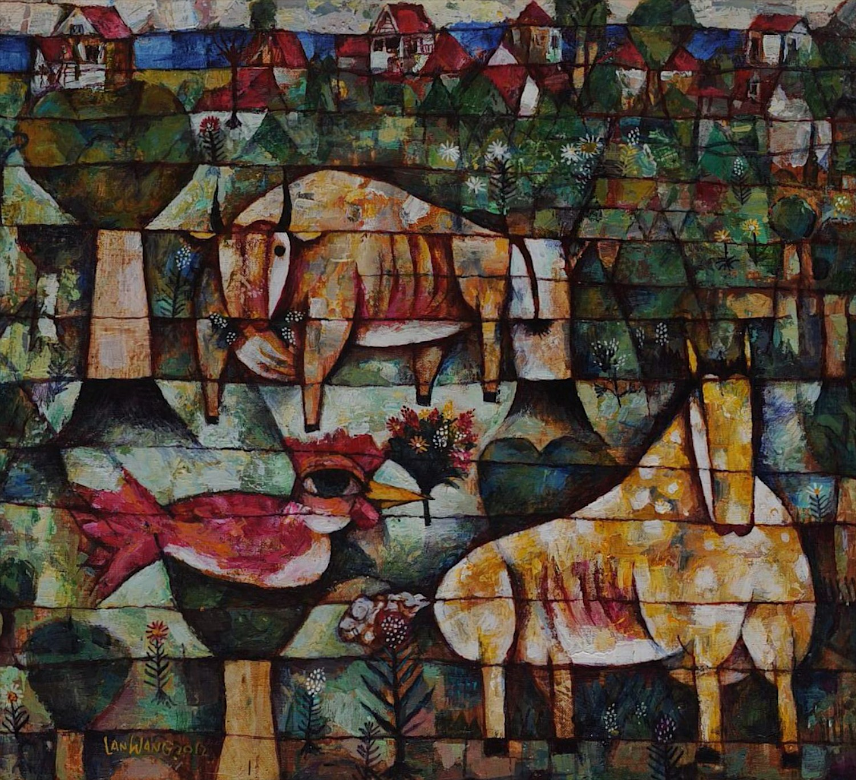 #14639 Wang Lan 'HOME No2' 2012. 71 x 65 cm Canvas $4800