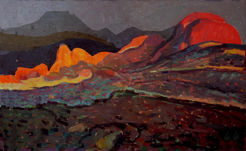 #14665 Yuman Zeng 'The Red Rocks' 91 x 61cm $4800