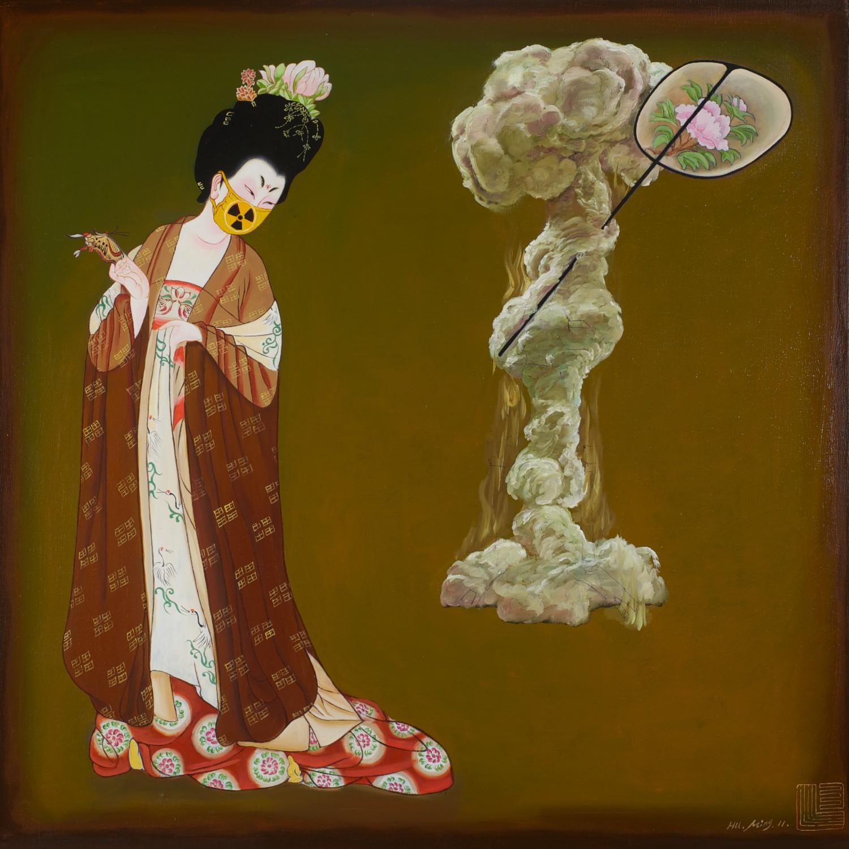 #13763 Hu Ming 'Nuclear Karma' 101cm x 102cm $12800