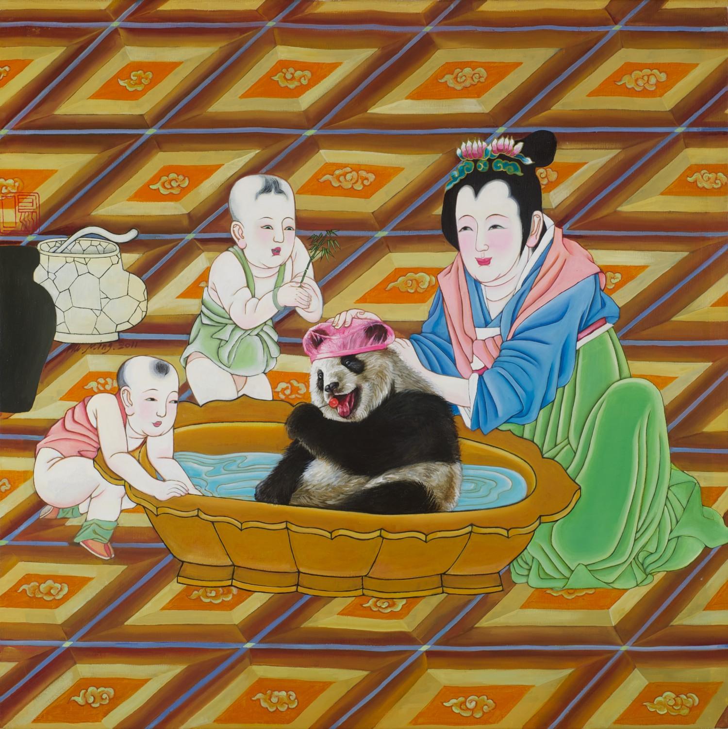 #13764 Hu Ming 'National Treasure' 101cm x 101cm $12,800
