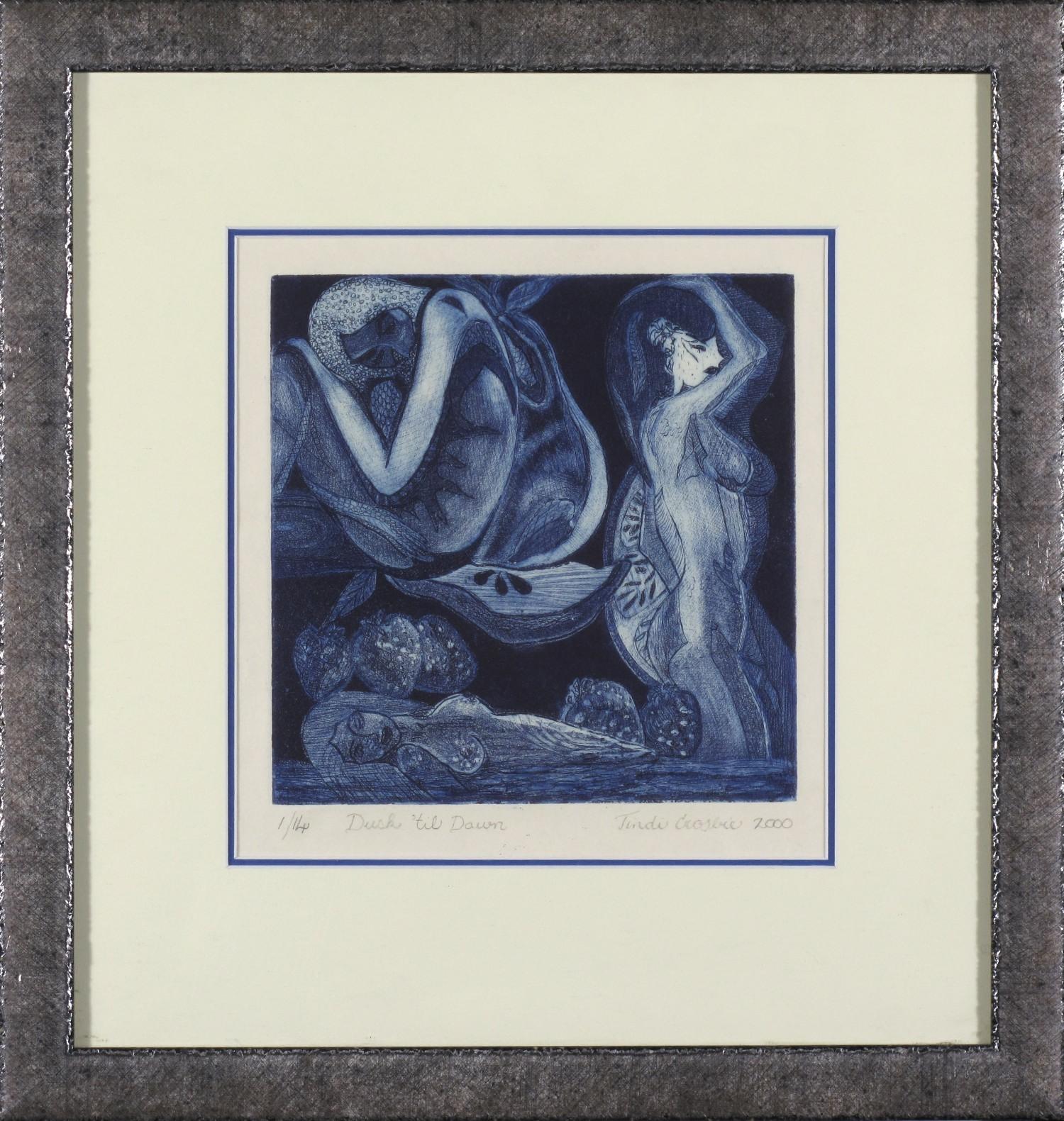 #1457. Tindi Crosbie. Dusk til Dawn. Limited Edition 43cm x 41cm. Signed Limited Edition 1-14 Was $380 Now $190