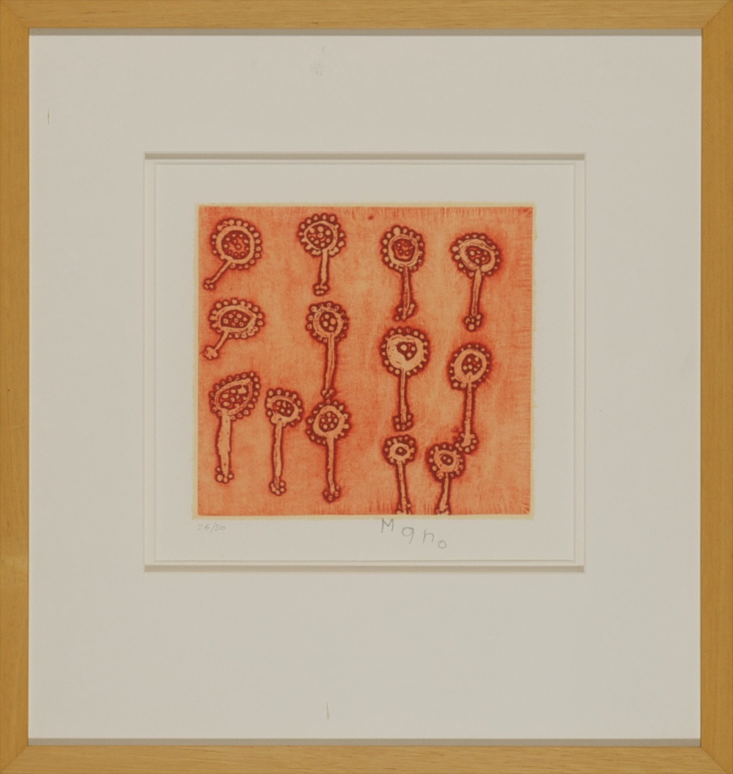#4285. Mercier Wawul. Minnie Mindi (Lotus Pods) Etching 26-50. 46cm x 44cm. Was $695 Now $347.50