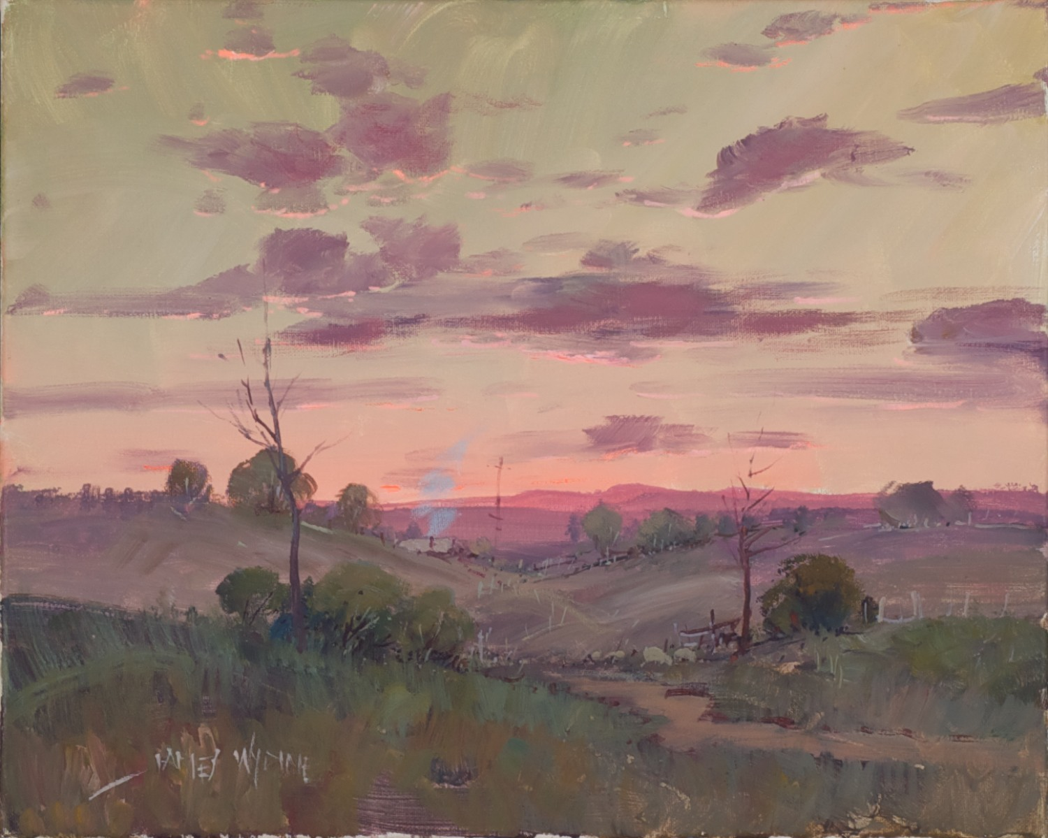 #7938. James Wynne. Late afternoon - Dusk. 40cm x 50cm. Was $1250 Now $750