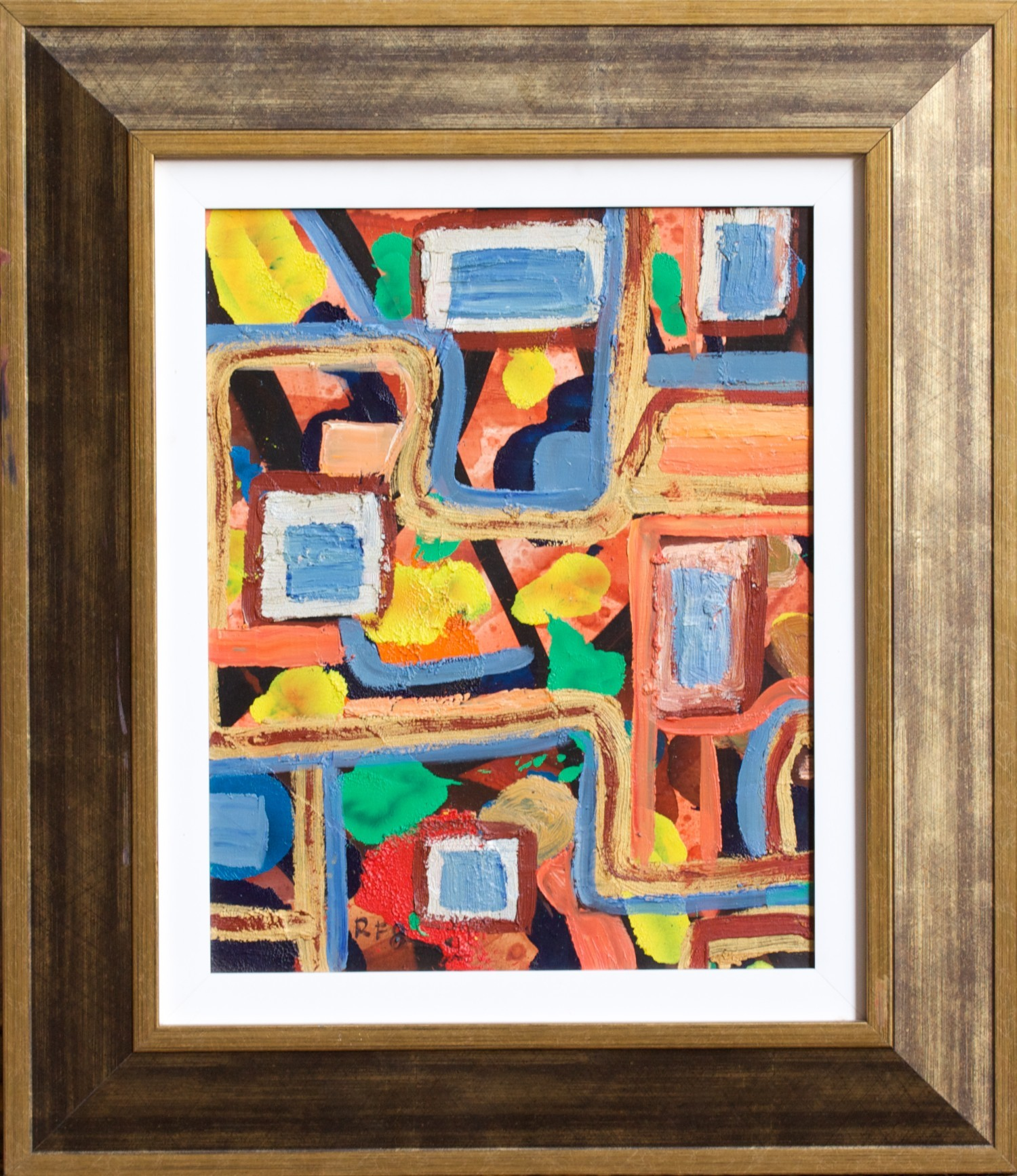 #8303 Robert Fisher 'Abstract I' Oil on board was $880 Now $616