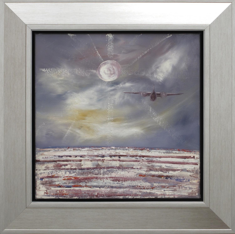 #9570. Robert Fisher. Last Flight Lake Eyre Moon I. 65cm x 65cm. Was $1190 Now $595