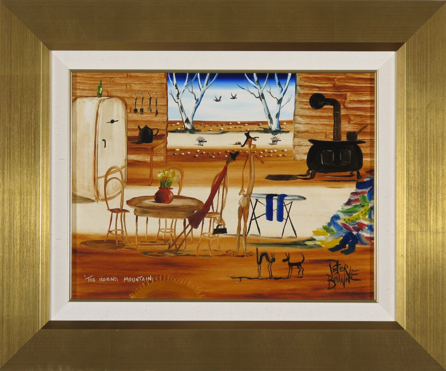 #10410. Peter Browne. The Ironing Mountain. 47cm x 57cm. $2800 Now $1400