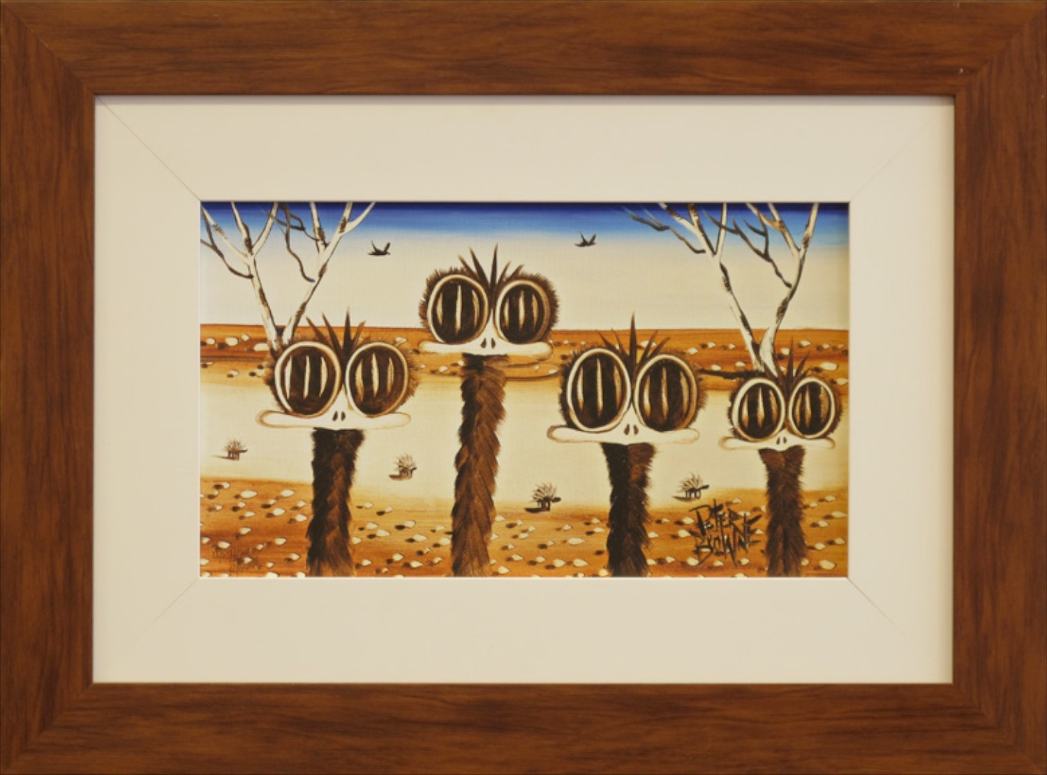 Peter Browne 'The Family' 40cm x 55cm (framed) Was $2800 Now $1400