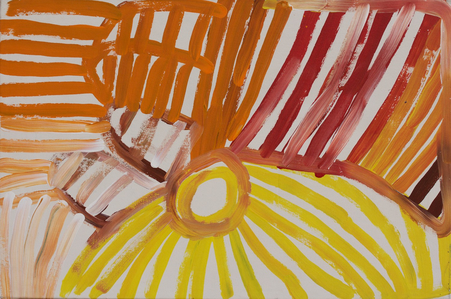 Minnie Pwerle 'Awelye Atnwengerp' 91cm x 61cm (Painted in 2004) #14950
