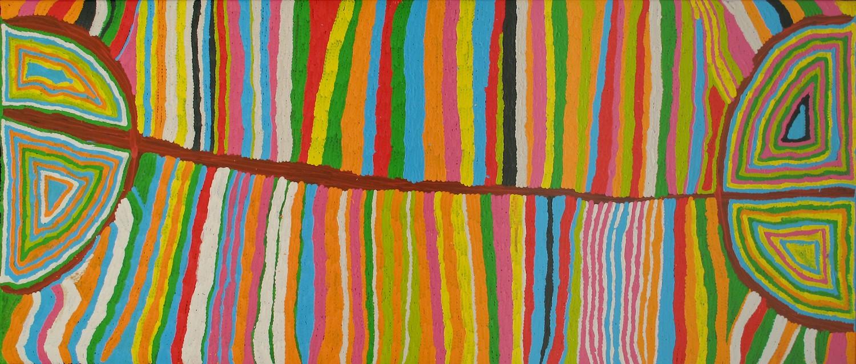 Judy Watson 'Mina Mina (Grass Skirt)' 100cm x 200cm #11101