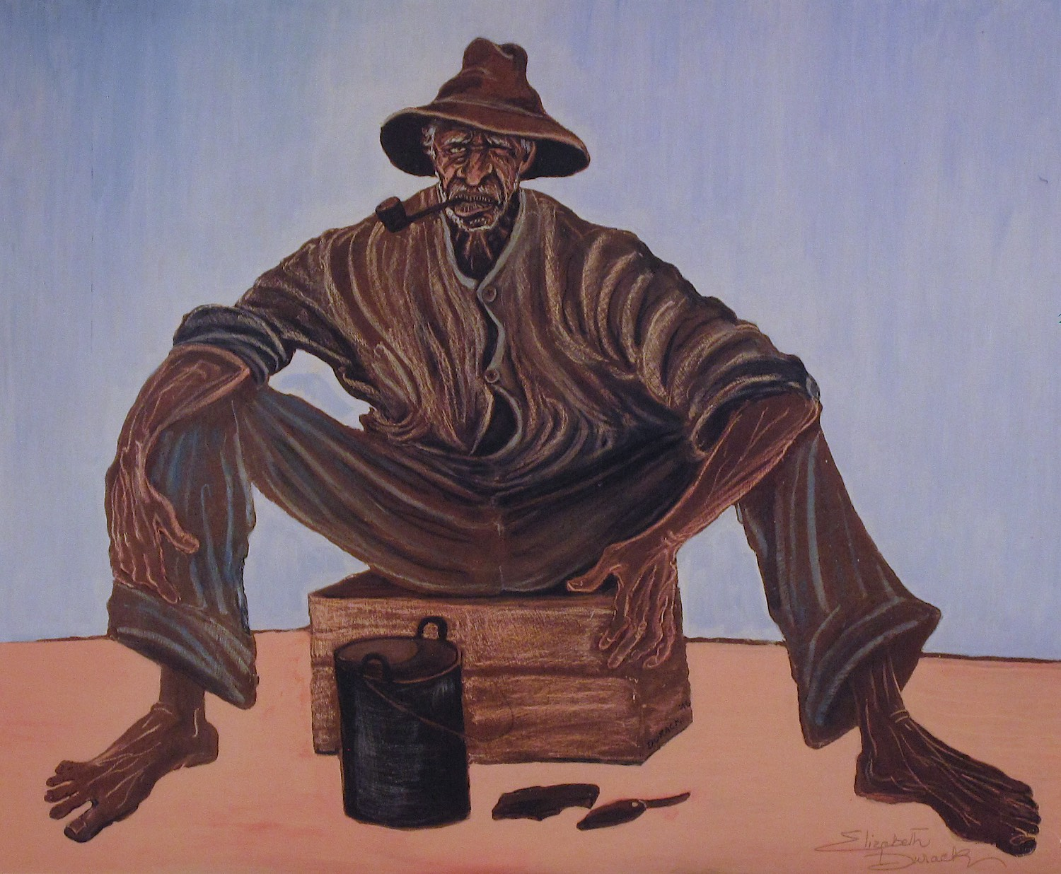 Elizabeth Durack 'Broome Billy' Limited Edition Print